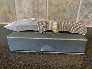 """Boker Plus Manaro Bullseye Customized Folding Knife 3.5"""" Titanium Handle"""