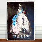 "Stunning Vintage Bally Fashion Poster Art ~ CANVAS PRINT 8x12"" White Dress"