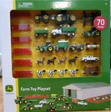 Tractor Farm Toy Play Set John Deere Kids 70 Pc Gift Boy Girl Truck Animals New