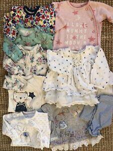Baby Girl Next First Size Newborn Beautiful Sleepsuits Bundle 7 Items VGC!