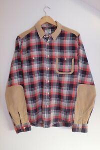Allsaints flannel corduroy conspirator shirt size M
