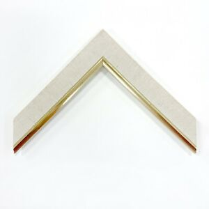 """1 1/4"""" Readymade Wood Picture Liner (Natural Liner with Gold - Order By The Box)"""