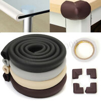 Baby Child Safety Bumper Protector 2M Edge + 4pcs Table Desk Corners Cushion *