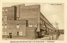 Carte postale Amsterdam Barth. ruloffstraat Architect J. F. staal pour 1923