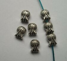 30pcs Tibetan silver fish charms spacer bead 11x9x5.5mm