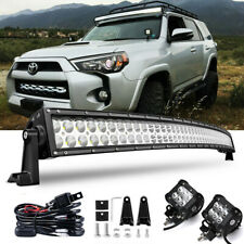 "Fit TOYOTA 4Runner Tacoma 50.5"" Curved Light Bar Upper Roof Driving Lamp +Wiring"