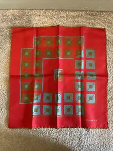 Christian Dior Vintage Abstract Pattern All Silk Scarf