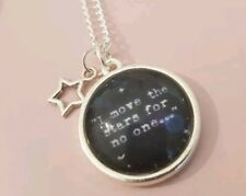 I Move the Stars Labyrinth Quote Film Movie 80s Jareth Silver Plated Necklace