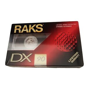 RAKSDX 90 Audio Cassette Tape Low Noise Normal Position Type I Dynamic Extended