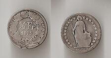Switzerland 1/2 franc 1875 B Rare!