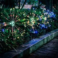 2 pcs Firework Starburst 105 LED Solar Light for Frontyard Patio Lawn Christmas