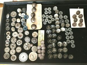 Lot Antique Vintage Metal Buttons.