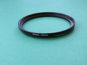 67mm-72mm Stepping Step Up Male-Female Filter Ring Adapter 67mm-72mm