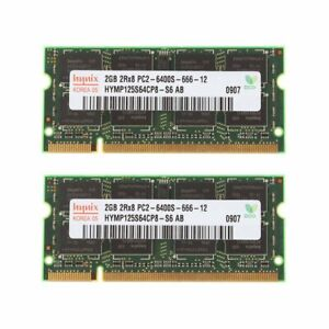 4GB 2x 2GB PC2-6400S DDR2 800MHz 200Pin CL6 SODIMM Laptop Memory RAM For Hynix