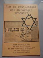 Als in Deutschland die Synagogen brannten Dokumentation .. Reichskristallnacht H