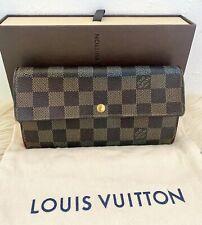 EUC 100% Authentic Louis Vuitton Damier Porte Feuille Sarah Long Bifold Wallet
