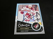 KEITH YANDLE AUTOGRAPHED 2011-2012 O-PEE-CHEE CARD-RANGERS-COYOTES