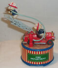 VINTAGE+ENESCO+ROTATING+FIRE+DEPARTMENT+MUSIC+BOX+-+MICE+ON+FIRE+TRUCK+-