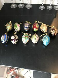 Set Of 11 Decorative Joan Rivers Egg Ornaments Faberge #31