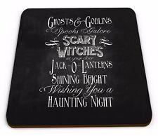 Ghosts & Goblins Spooks Galore Halloween Novelty Glossy Mug Coaster