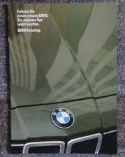 Prospekt BMW Leasing Februar 1982 deutsch g. Zustand