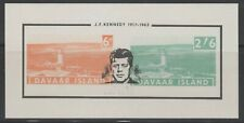 Great Britain Davaar Island John Kennedy 2 Stamps + Imperforate SS 1964 MNH