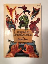 Origins of Marvel Comics Signed By Stan Lee 1974 Paperback