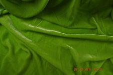 Soie/Viscose velours, 114 Cm Large, Vert Citron, par demi-mètre