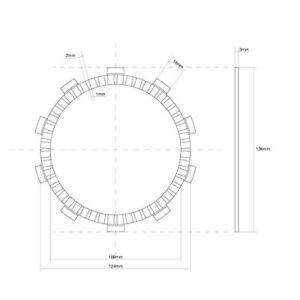 MS-13CEEC1656 FRIZIONE DISCO SINGOLO GUARNITO FCC  13/17 CBR RR / ABS (PC40CD/PC