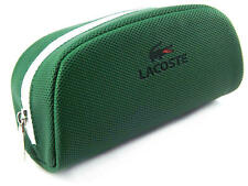 Lacoste Sunglasses Case Cover Protect Zip Green New A651-1