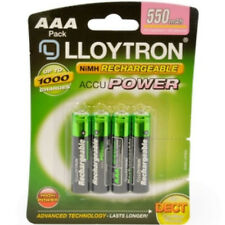 4 X Lloytron Aaa 550 mAh Pilas Recargables NiMH