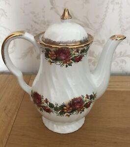 English Rose Fine Bone China Teapot/ Coffee Pot