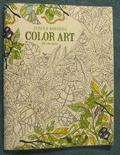 Leisure Arts JUNGLE WONDERS Color Art Adults Teens Kids Color Book 6766