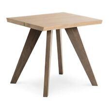FREDRIK RUSTIC INDUSTRIAL SCANDINAVIAN WOODEN OAK SIDE TABLE