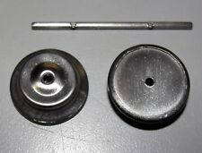 MARX ORIGINAL EQUIPMENT SMOOTH FACE METAL WHEEL SET 2 WHEELS AND 1 AXLE (STK38)