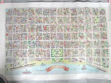 """New Orleans Map Old Square (Vieux Carre) - 36 x 24"""" 1976 The Vignette Signed"""