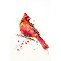 New Cardinal Limited Edition Signed & Matted Watercolor Art by Dean Crouser