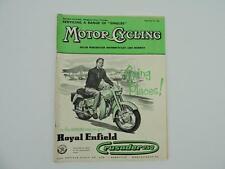 Vintage Feb 1957 Motorcycling Magazine Royal Enfield Crusader 250 L8187