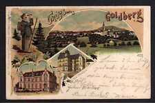 102608 AK Goldberg Schlesien Litho 1899 Kreis Ständehaus Postamt Wanderer mit Fe