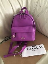 NWT Coach mini campus backpack in polished pebble leather 37590