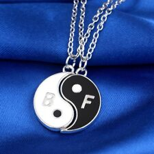Yin & Yang Best Friends BFF Necklace/Pendant Pair/Set on Chain, UK Seller, BNWT