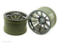 08008 Silver Wheel Rims 2 pcs 1/10 Scale Spare Part For Nitro RC Truck