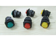 6pcs 4Pin ON-OFF Self Lock Latching Switch Push Button With LED 3A 250V AC s567