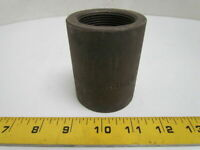 """Coupling 1-1/2"""" NPT Forged Steel Class 3000 Schedule 80 Black Pipe A-105 Sch 80"""