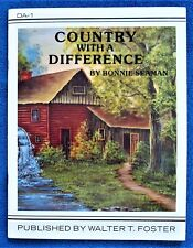 Country With A Difference Painting Pattern Book Bonnie Seaman Landscape - Unused