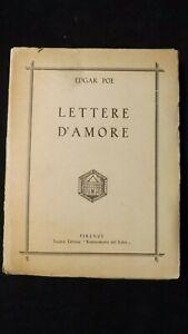 Edgar Allan Poe: Lettere d'amore. Firenze, Rinascimento del libro, 1931