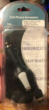 Retractable Car Charger for Samsung S-20 Pin Connector - Black
