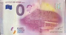 BILLET 0  EURO PUY DE DOME FRANCE 2015 NUMERO 1000