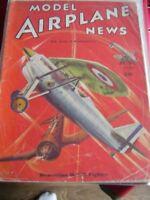 MODEL AIRPLANE NEWS JUNE 1936 DEWOITINE D 535 FIGHTER  AIRCRAFT AEROMODELLER