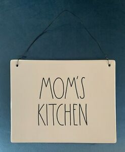 NEW Rae Dunn Mom's Kitchen MOTHERS DAY GIFT Hanging Wall Plaque Art Artisan